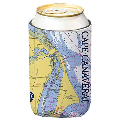 Altered Latitudes Cape Canaveral Chart Standard Beverage Cooler - Christmas Bottles Altered