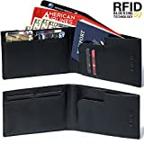 RFID Genuine Leather Passport Wallet (6.2 Inches) + Bonus Velcro Case & 2 Ebooks