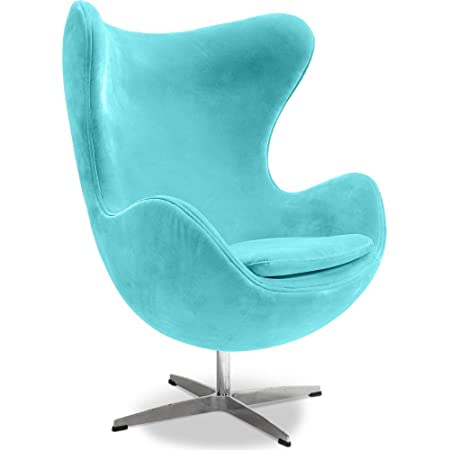 Egg Chair   Inspired By Arne Jacobsen   Fabric   Turquoise