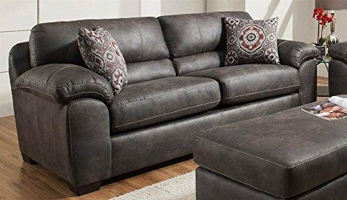 Chelsea Home Upholstered Sofa in Santa Fe Gray