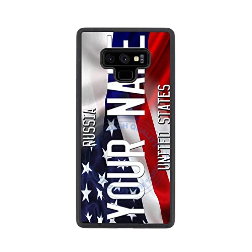 BRGiftShop Personalize Your Own SUV Bumper Car Grill Red License Plate Rubber Phone Case For Samsung Galaxy Note 9