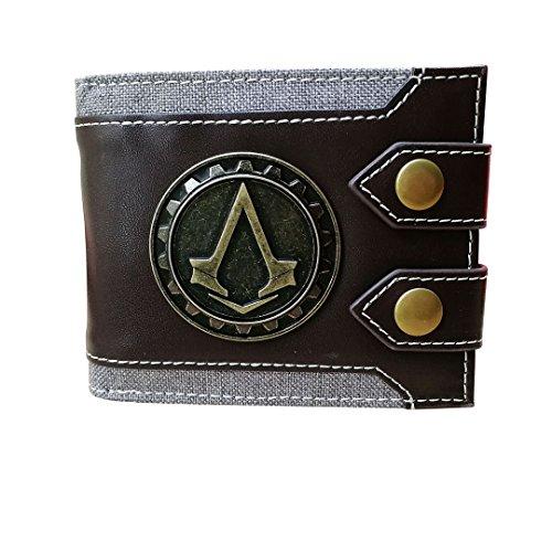 Men's Wallet Compatible for Assassin Creed Emblem Bifold Short Wallet Credit Card Holder (Game Wallet)