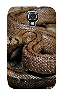 Storydnrmue Top Quality Case Cover For Galaxy S4 Case With Nice Animal Ladder Snake Appearance