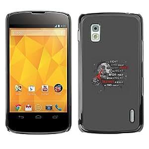 // PHONE CASE GIFT // Duro Estuche protector PC Cáscara Plástico Carcasa Funda Hard Protective Case for LG Nexus 4 E960 / Star War Poster /