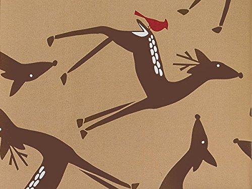 Woodland Deer 24''x417' (kraft) by Nas
