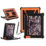iPad 2/3/4 Case, Harsel Defender Series Heavy Duty Tree Camo High Impact Shockproof Hybrid Protective Military w' Kickstand Built-in Screen Protector Case Cover for Apple iPad 4/3/2 - Tree (Orange)