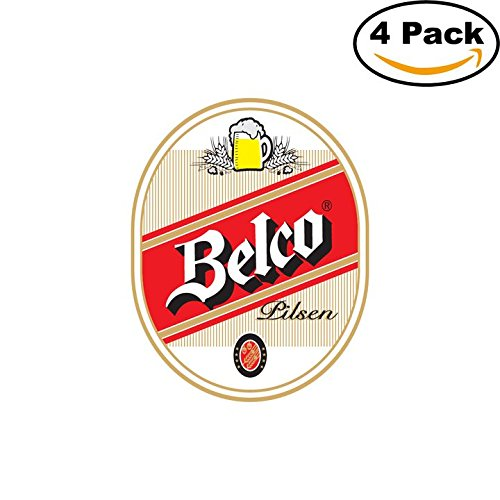 belco-beer-logo-alcohol-4-vinyl-stickers-decal-bumper-window-bar-wall-4x4