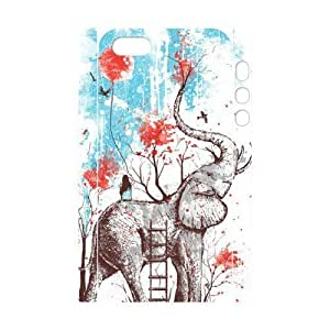 Cool Painting Elephant Brand New 3D Cover Case for Iphone 5,5S,diy case cover case526095