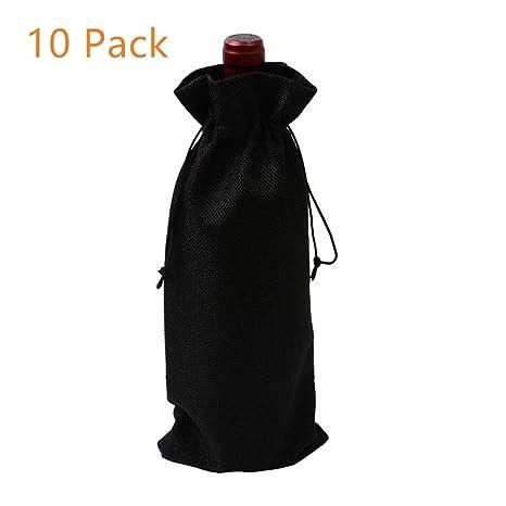 Amazon.com: Bolsas de vino de yute de Nodykka a granel de ...