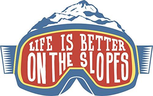Snowboard Sticker Decal - Snowboard Ski Snow Adventure Lover Cartoon Goggles Vinyl Decal Sticker (4