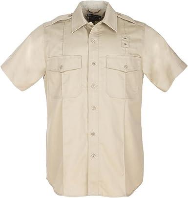 5.11 Táctica Sarga PDU Clase A Camisa de Manga Corta con Botones, Revestimiento de teflón, Estilo 71183