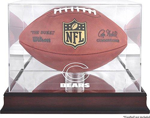 Chicago Bears Mahogany Football Logo Display Case and Mirror Back ()