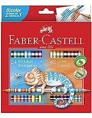 Lápis de Cor Ecolápis Bicolor 24 Lápis/48 Cores Faber Castell