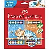 Lápis Bicolor 48 Cores, Faber-Castell 120624G, Grafite