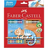 Lápis de Cor Ecolápis Bicolor 24 Lápis/48 Cores, Faber-Castell