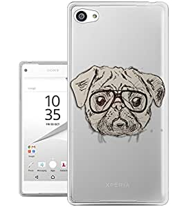 c0297 - Cool Cute fun pug art illustration doodle ner glasses funny love pet dogs Design Sony Xperia Z1 Compact / Mini Fashion Trend CASE Gel Rubber Silicone All Edges Protection Case Cover