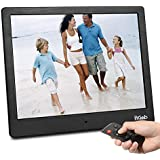 """Digital Photo Frame 10"""" FHD Video (1080P) 4:3 Hi-Res IPS LCD Screen Digital Picture Frame WI-FI P2P Transmission with 4GB Internal Memory & Remote Control M13 (Black)"""