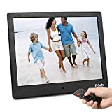 "Digital Photo Frame 10"" FHD Video (1080P) 4:3 Hi-Res IPS LCD Screen Digital Picture Frame WI-FI with APP Transmission with 4GB Internal Memory & Remote Control M13 (Black)"