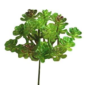 Muhan Artificial Succulent Plants Fake Flower Pot Cactus Echeveria Plants Desert Plants Flower Foliage 79