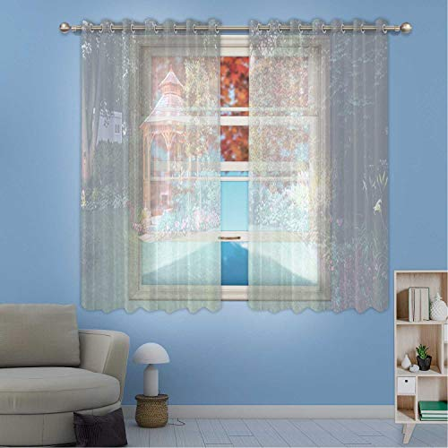 MOOCOM Garden at Night Window Treatments Curtains,182114 for Kids Room,W84in x H45in from MOOCOM