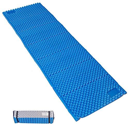 (GEERTOP Camp Pad - Portable Lightweight Folding Foam Mat Mattress Cushion for Outdoor Hiking Camping Backpacking (Blue, Regular))