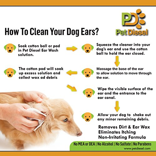 Dog Ear Cleanser Ideal For Ear Wax Removal, Itchy Ears