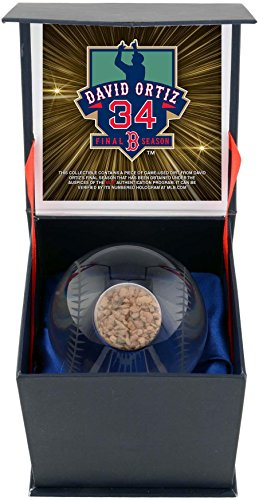 David Ortiz Boston Red Sox Crystal Baseball Filled with 2016 Final Season Game Used Dirt - Fanatics Authentic Certified