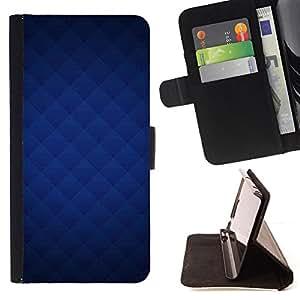 BullDog Case - FOR/Samsung ALPHA G850 / - / Blue texture /- Monedero de cuero de la PU Llevar cubierta de la caja con el ID Credit Card Slots Flip funda de cuer