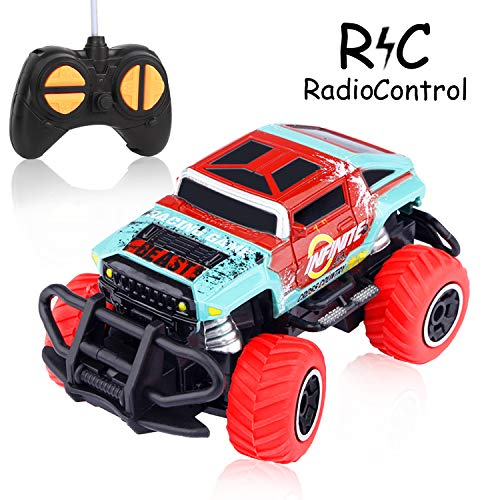 HONGKIT Remote Control Car for Boys,High Speed Racing Hummer Car Off-Road Vehicle for 3-12 Years Old Kids Birthday Gift Car Toy for 3-12 Years Old(Hummer-RED)