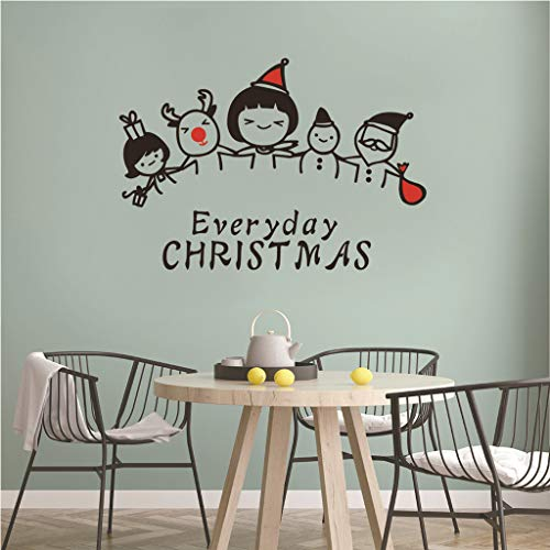 Iusun Everyday Christmas Letter Wall Stickers DIY Window Decals for Bedroom Living Room Restaurant Mall Xmas Decoration (A)