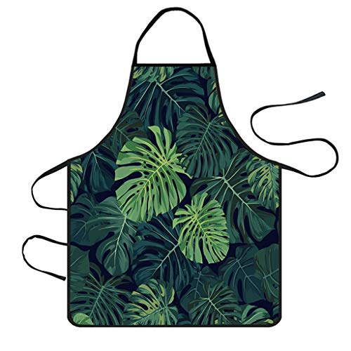 Adjustable Bib Cartoon Apron, French Design Twill Polyester Waterproof Anti-Oil Aprons Cute Wearable Pinafore Kitchen Waitress Aprons For Women Men Chef, Restaurant/Cooking/Baking/Gardening