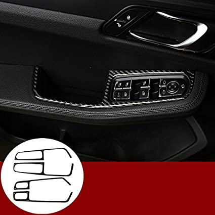 f2b36ac26b Image Unavailable. Image not available for. Color: wroadavee Carbon Fiber  Car Door Armrest Window Switch Cover For Porsche Macan ...