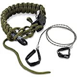 Columbia River Knife and Tool 9300DL Onion  Para-Saw Survival Bracelet, Large, Green