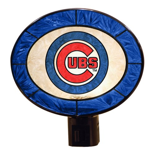 - MLB Chicago Cubs Art-Glass Nightlight