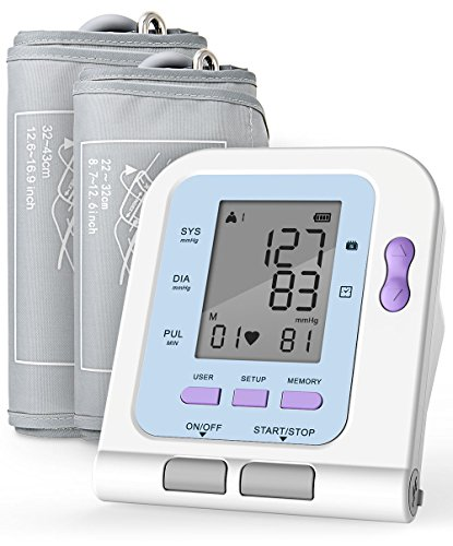 Aickar Blood Pressure Monitor, Upper Arm Blood Pressure Machine, FDA Approved BP Monitor, Blood Pressure Monitors with Medium & Large...