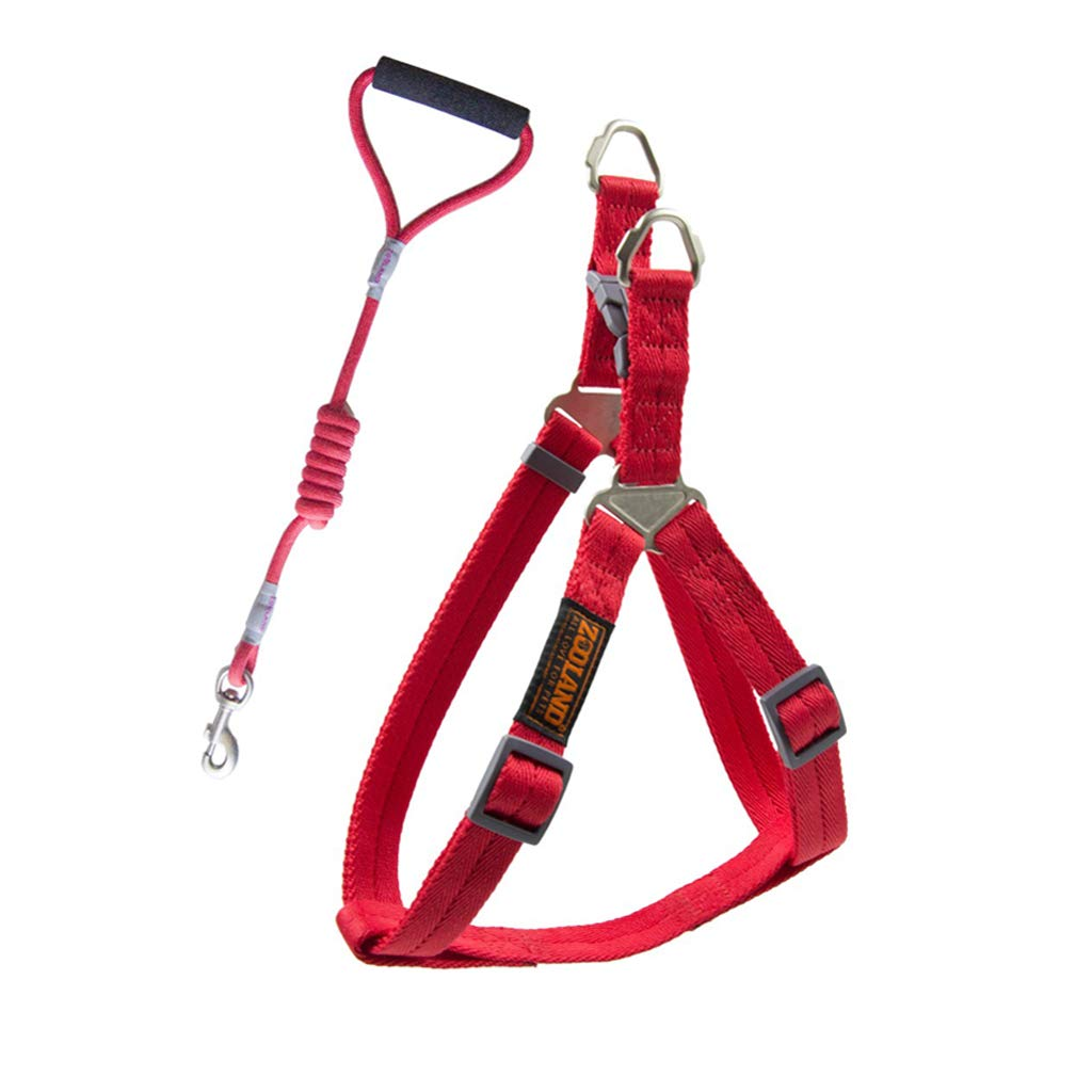 RED S RED S Pet Leash Dog Leash, Adjustable Vest Strap for Medium and Large Dog Chest Straps Dog Lead Chest Strap Set Send Rope (color   RED, Size   S)