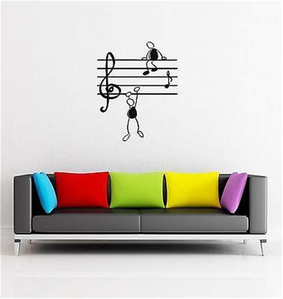 wandaufkleber baum eule Music Notes Funny Guys f/ür Wohnzimmer