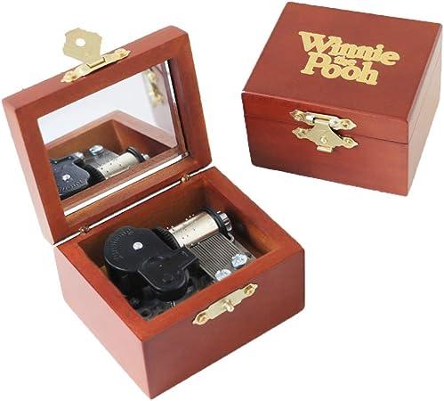 Caja de música de madera tallada de Youtang, mecanismo de cuerda para levantar, regalo mucial para Navidad, cumpleaños, día de San Valentín: Amazon.es: Hogar
