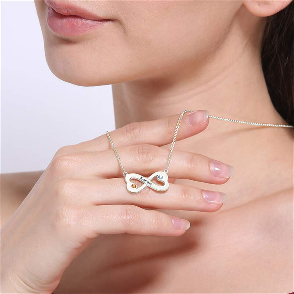 SADNESS N Infinity Pendant Sterling Silver Necklace Gift for Mother/'s Day