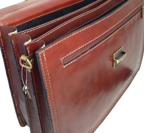 62afca7ee8 CTM Borsa Uomo Marrone 24 ore porta documenti, 41x31x18cm, Vera Pelle 100%  Made in Italy: Amazon.it: Valigeria