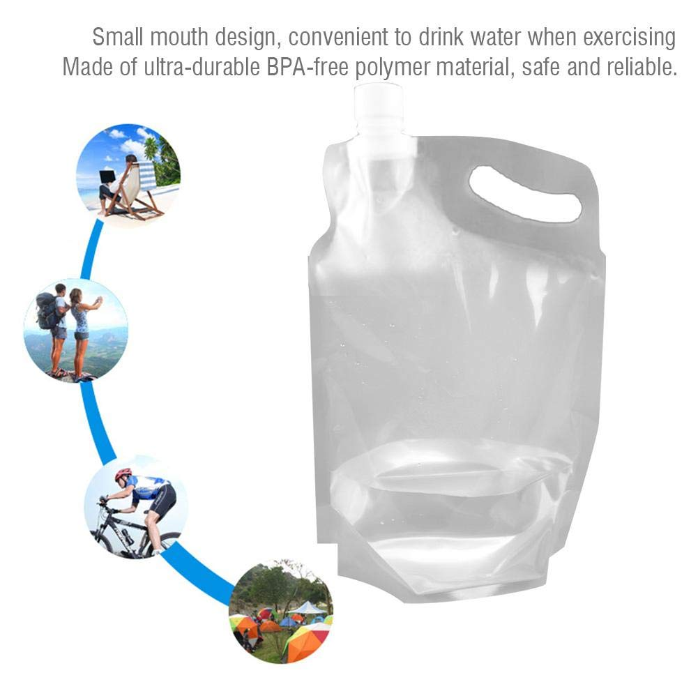 2L Folding Water Storage Lifting Bag Hydration Water Carrier Hydration for Outdoor Camping Hiking VGEBY Water Container Bag