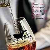 KETIA 4 PCS/Set 16 Oz Stemless Plastic Wine Glasses