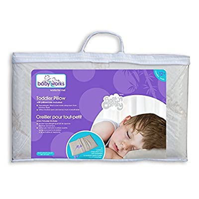 Baby Works Toddler Pillow with Bamboo Pillowcase, Off-White