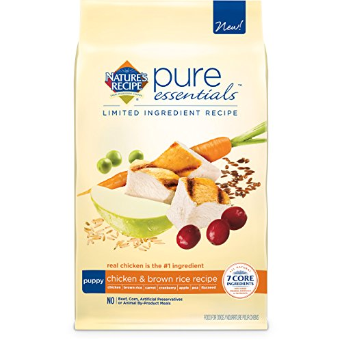 Nature's Recipe Pure Essentials Puppy Chicken and Brown Rice Dry Dog Food, 4-Pound