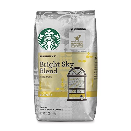 Starbucks Bright Sky Blend Light Blonde Roast Ground Coffee  12 Ounce Bag  Pack Of 6
