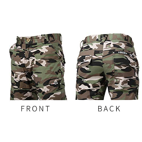 MXEUER Mens Long Pants Camouflage Cargo Jogger Gym Athletic Outdoor Pants