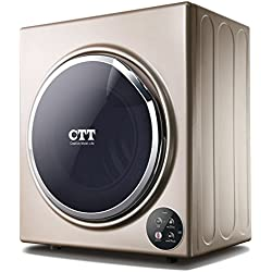 CTT 13 Lbs. Capacity/3.5 Cu.Ft Compact Portable Tumble Clothes Laundry Dryer, Intelligent Humidity Sensor - Gold, GYJ50-98E-G
