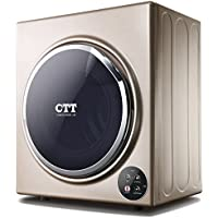 CTT 13 Lbs. Capacity/3.5 Cu.Ft Compact Portable Tumble Clothes Laundry Dryer, Intelligent Humidity Sensor-Gold, GYJ50-98E-G