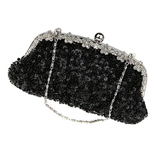 Soirée En Shopping Noir Night Pour Fityle Main Occasions Rencontres De Sequins F D'embrayage Pochettes À Femmes Paillettes Sac 1wgtUqXxZ