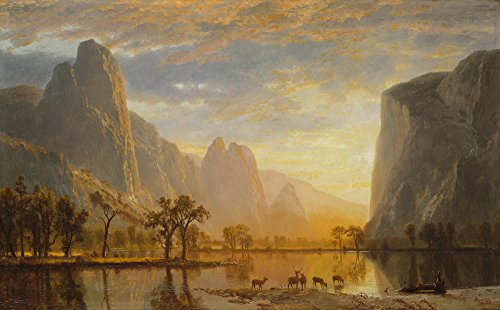 Berkin Arts Albert Bierstadt Giclee Canvas Print Paintings Poster Reproduction Large Size(Valley of The Yosemite) ()